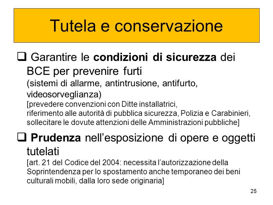 Tutela e conservazione