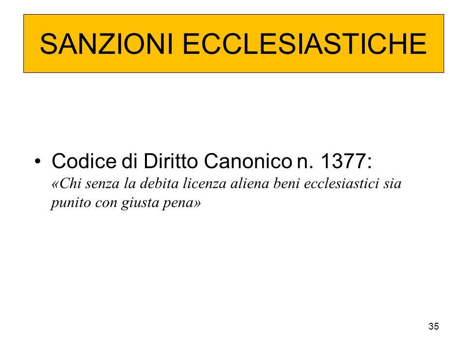 SANZIONI ECCLESIASTICHE
