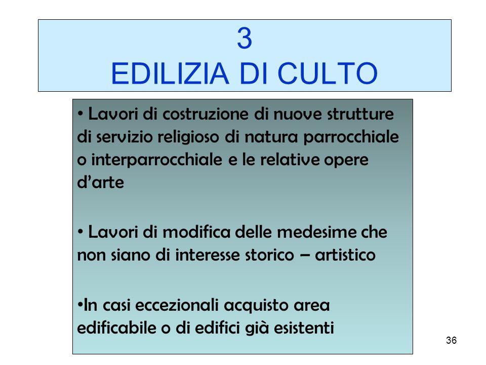 3 EDILIZIA DI CULTO