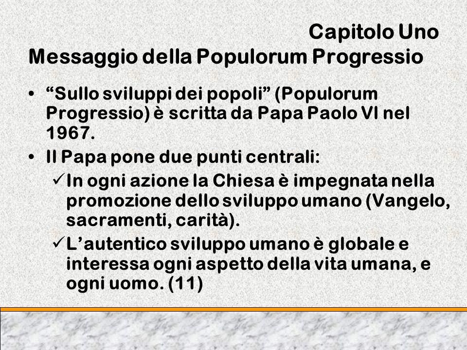 Capitolo Uno Messaggio della Populorum Progressio