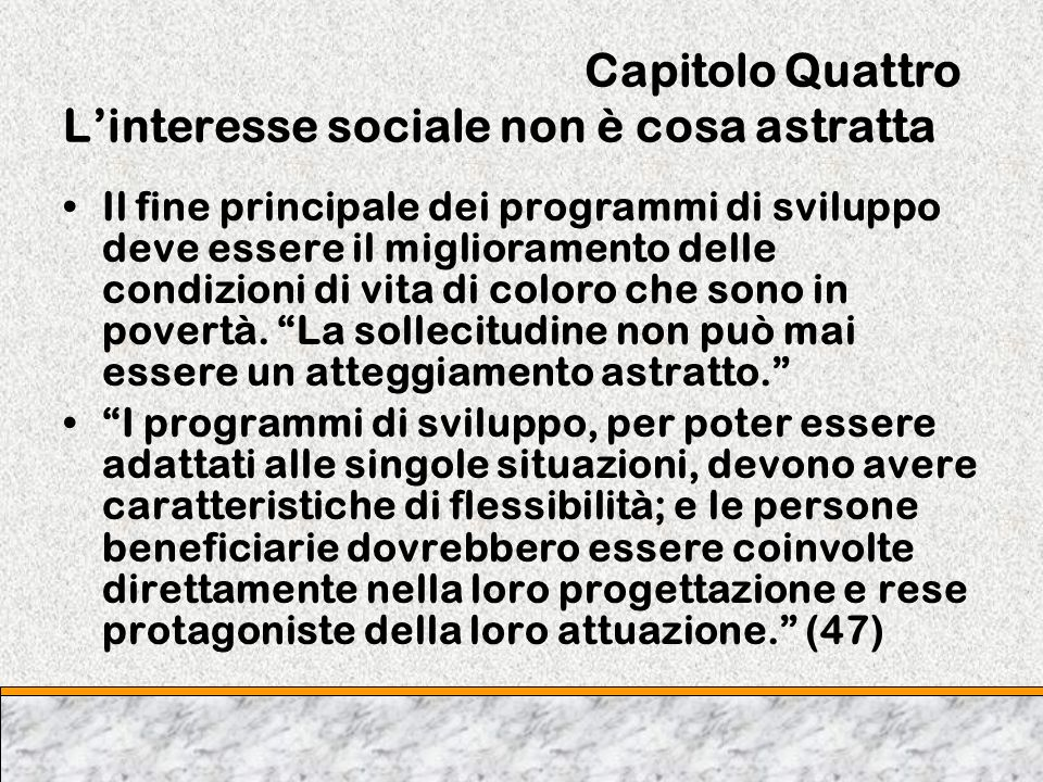 Capitolo Quattro L'interesse sociale non è cosa astratta