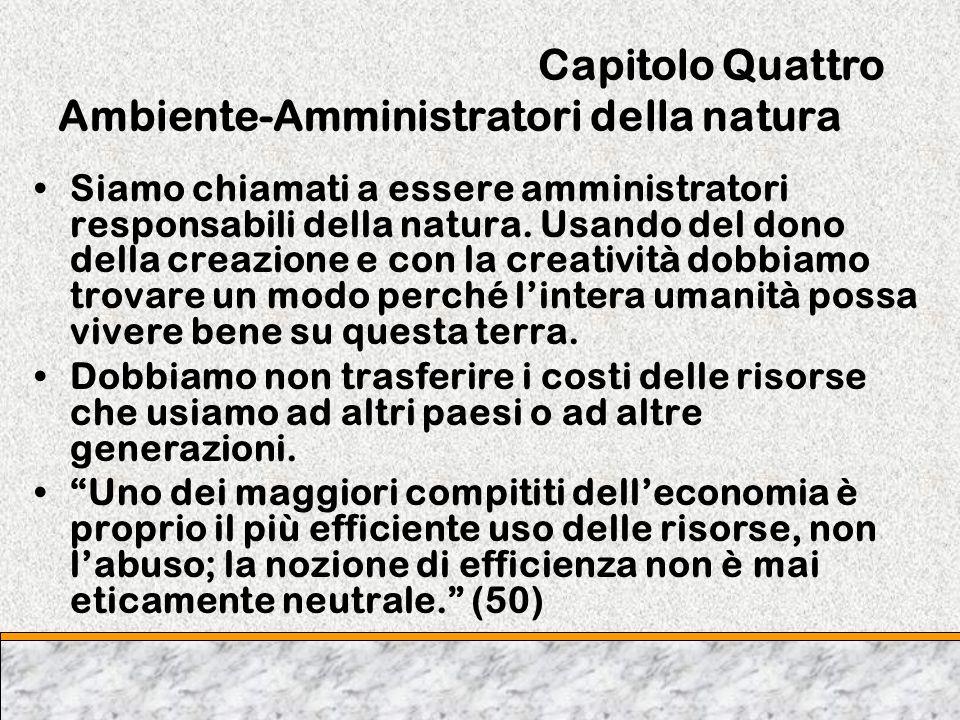 Capitolo Quattro Ambiente-Amministratori della natura