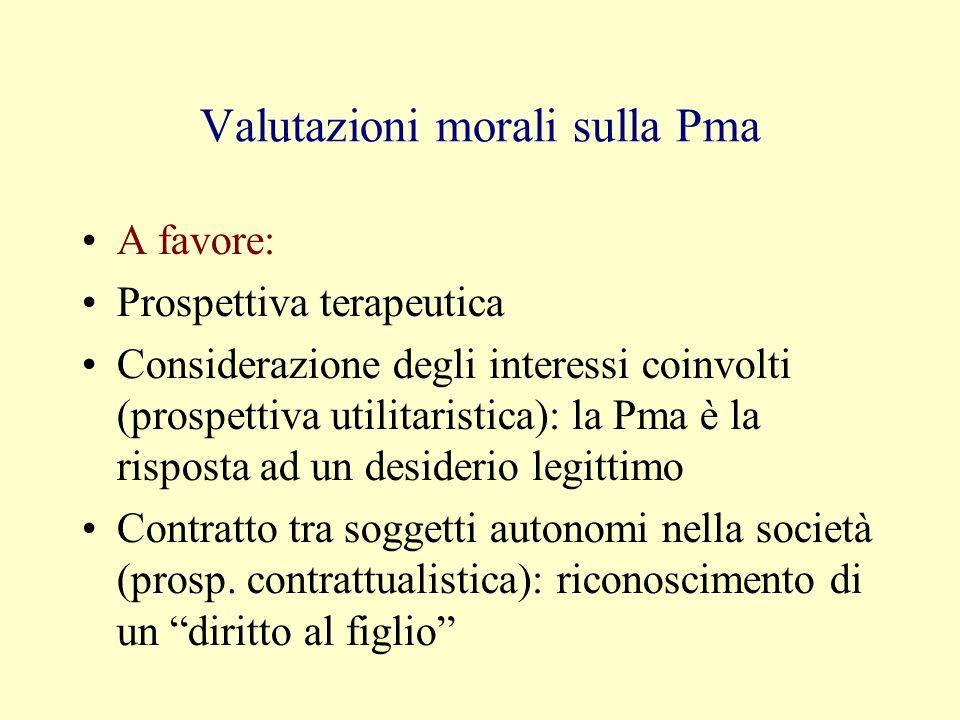 Valutazioni morali sulla Pma