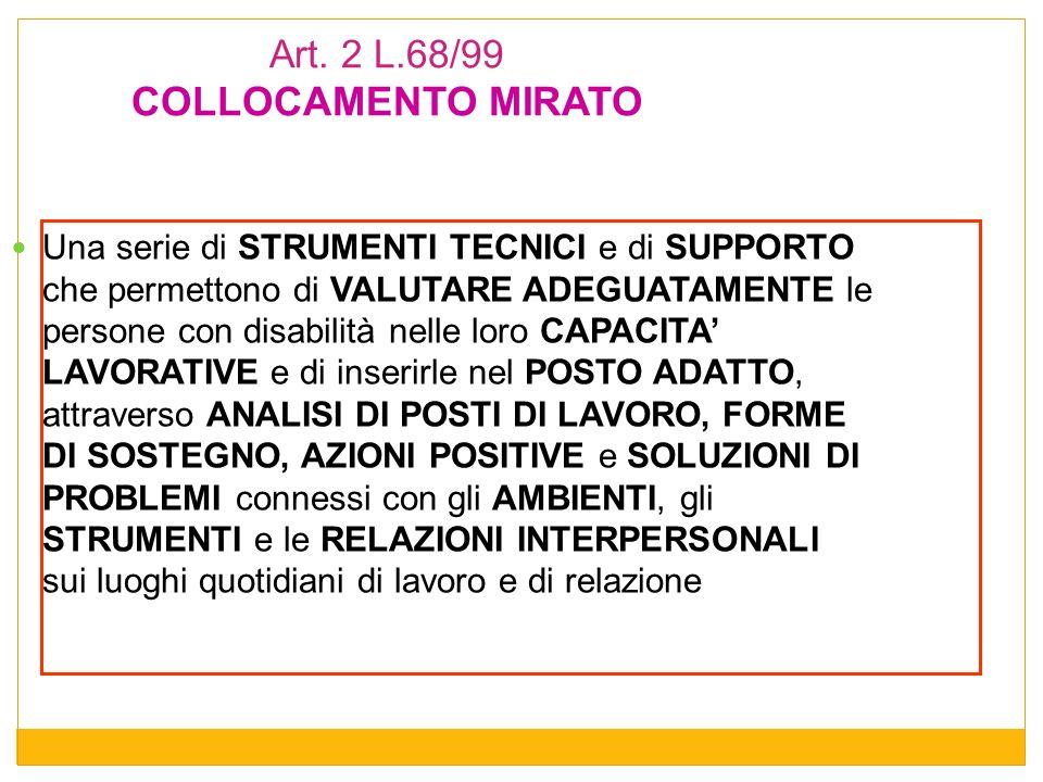 Art. 2 L.68/99 COLLOCAMENTO MIRATO