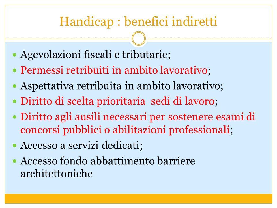 Handicap : benefici indiretti