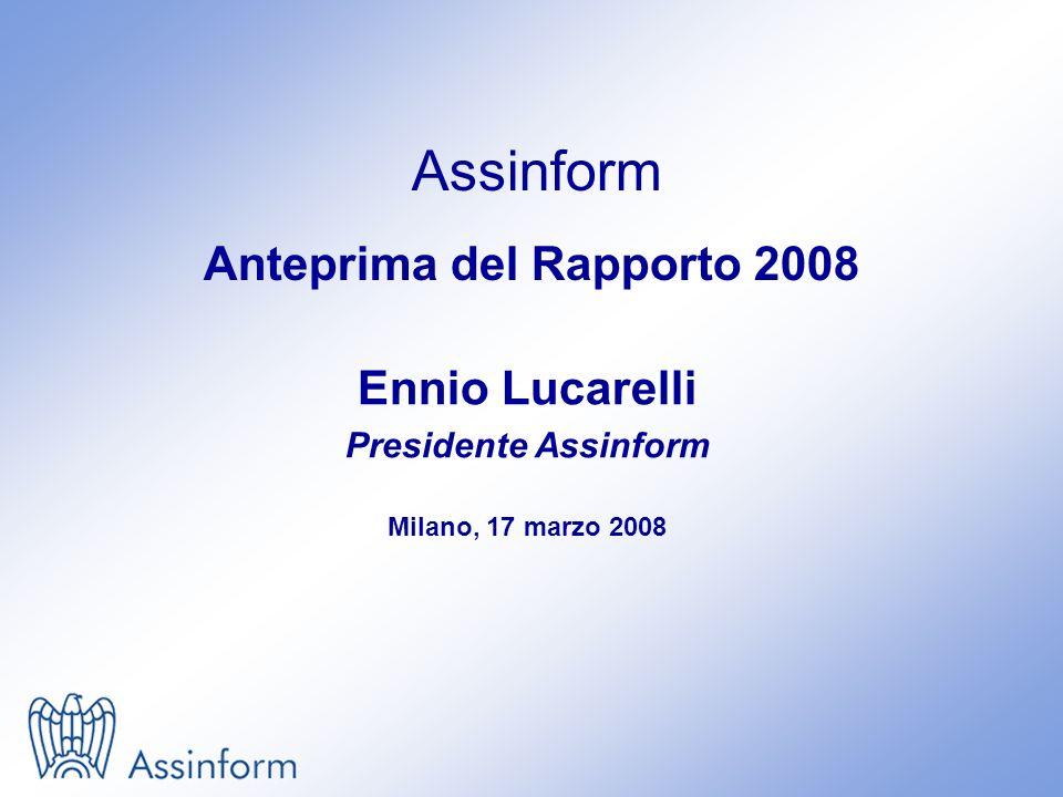 Assinform Anteprima del Rapporto 2008