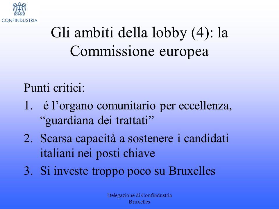Gli ambiti della lobby (4): la Commissione europea