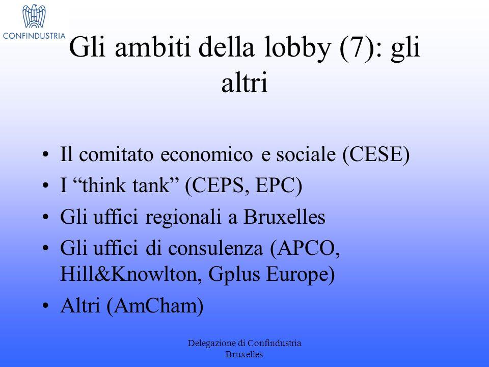 Gli ambiti della lobby (7): gli altri