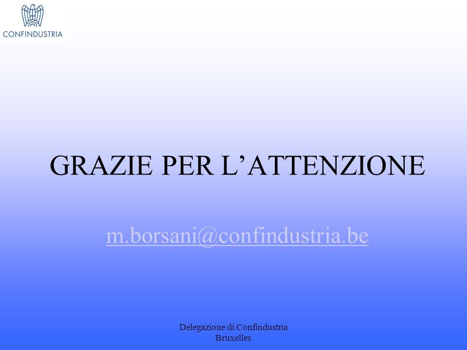 GRAZIE PER L'ATTENZIONE m.borsani@confindustria.be