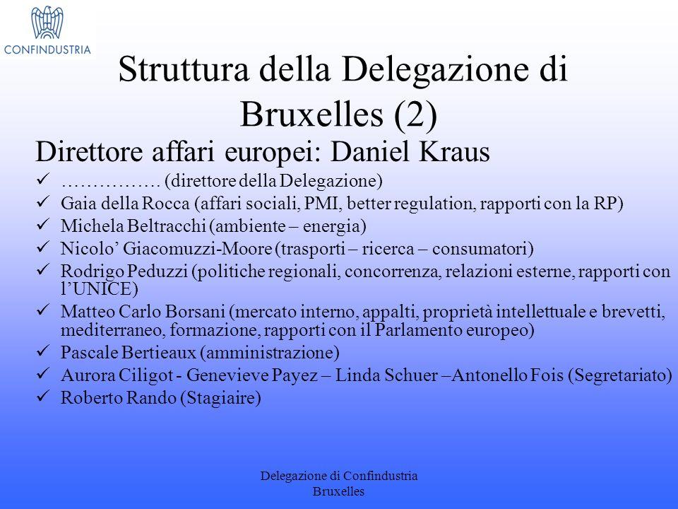 Struttura della Delegazione di Bruxelles (2)