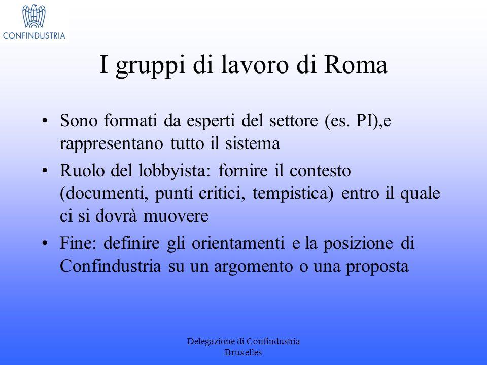 I gruppi di lavoro di Roma