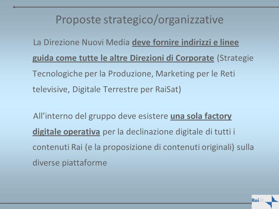 Proposte strategico/organizzative