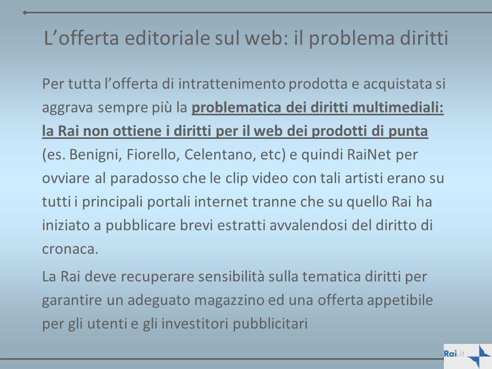 L'offerta editoriale sul web: il problema diritti