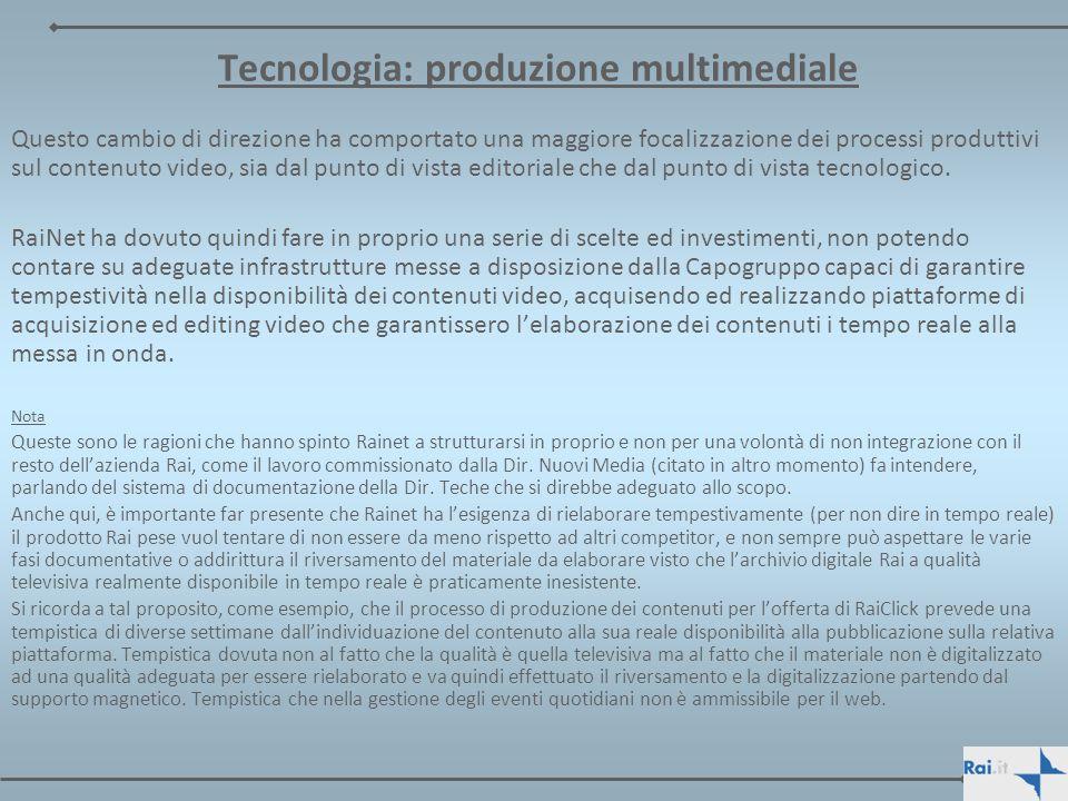 Tecnologia: produzione multimediale