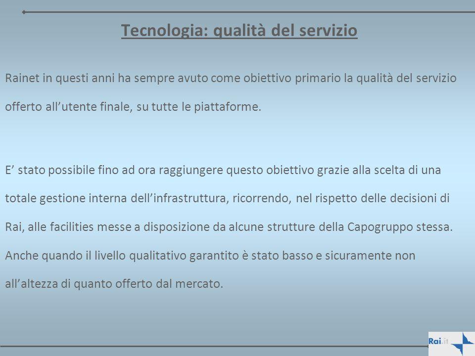 Tecnologia: qualità del servizio