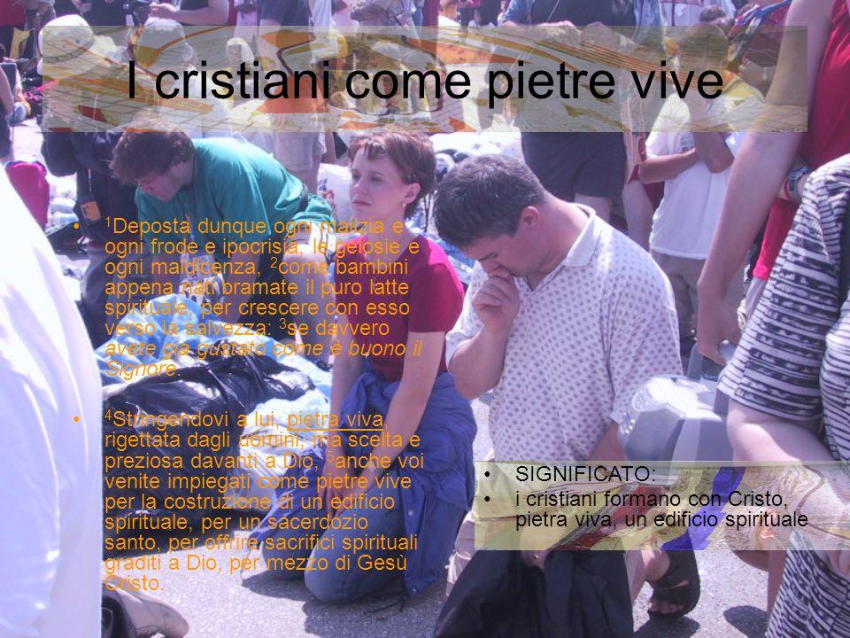 I cristiani come pietre vive
