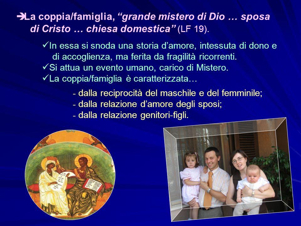 La coppia/famiglia, grande mistero di Dio … sposa
