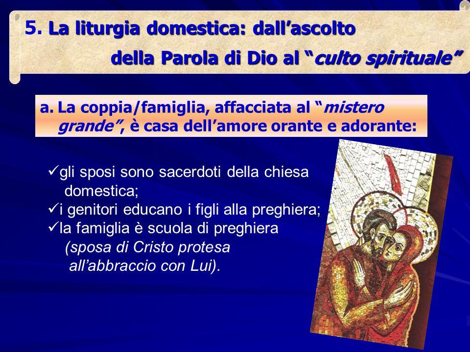 La liturgia domestica: dall'ascolto
