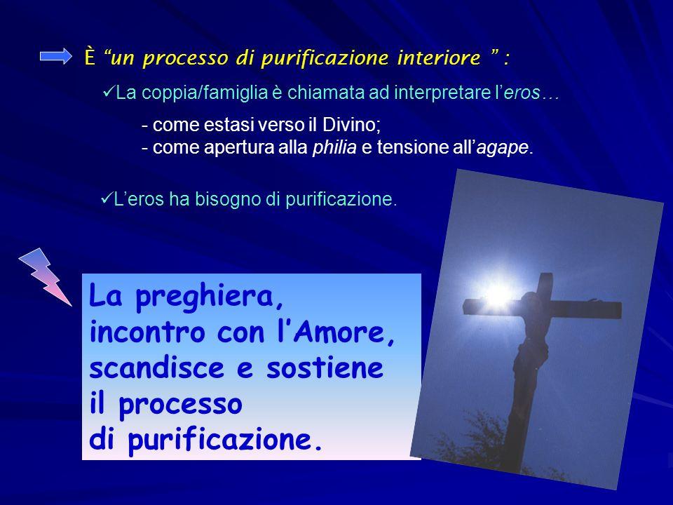 La preghiera, incontro con l'Amore, scandisce e sostiene il processo