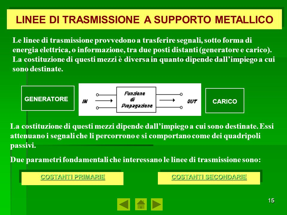LINEE DI TRASMISSIONE A SUPPORTO METALLICO