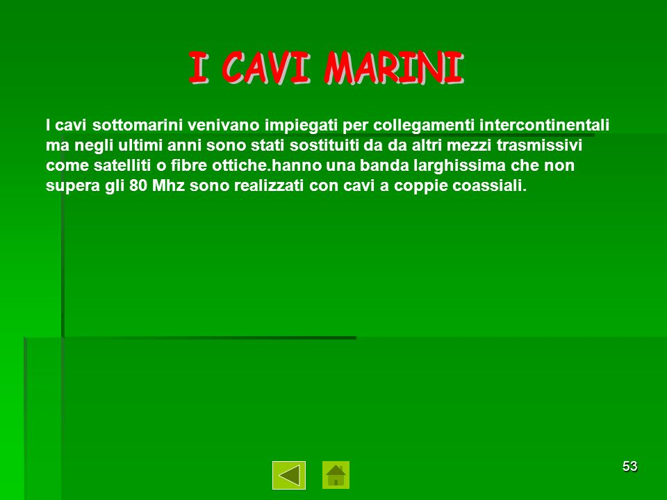 I CAVI MARINI