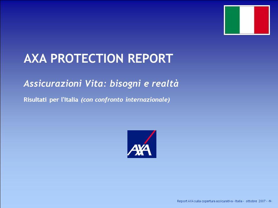 AXA PROTECTION REPORT Assicurazioni Vita: bisogni e realtà Risultati per l Italia (con confronto internazionale)