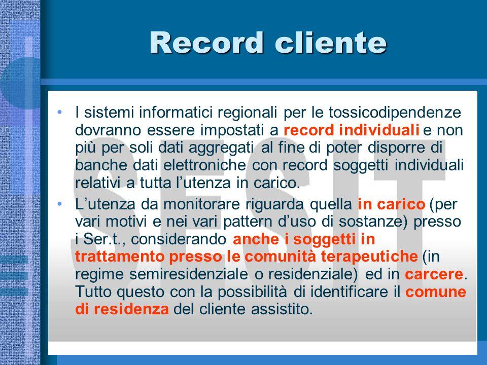 Record cliente