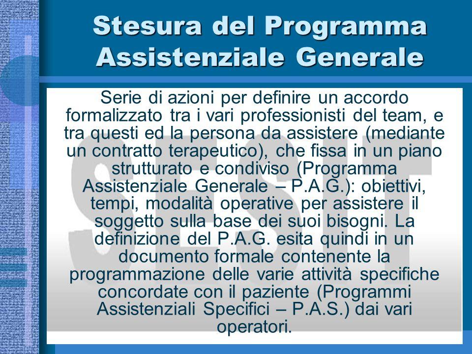 Stesura del Programma Assistenziale Generale