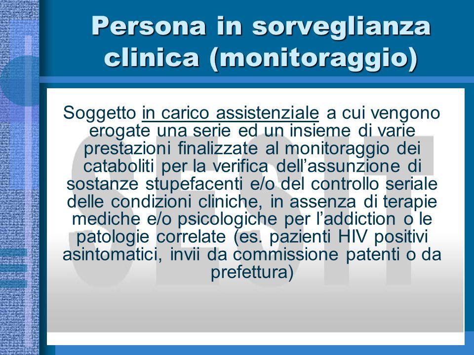 Persona in sorveglianza clinica (monitoraggio)