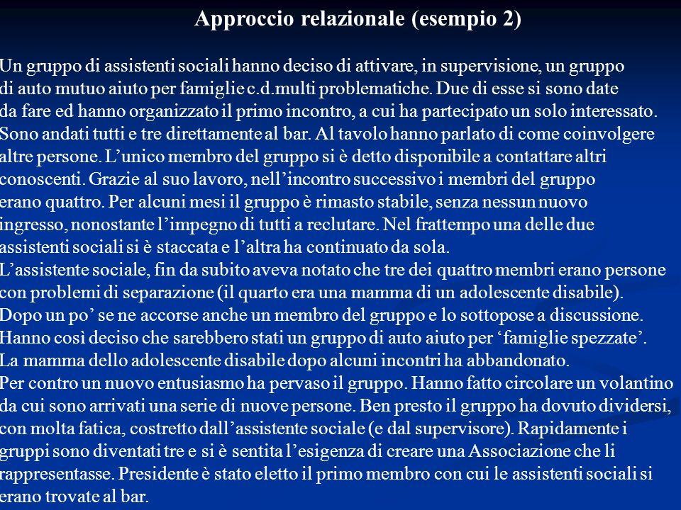 Approccio relazionale (esempio 2)