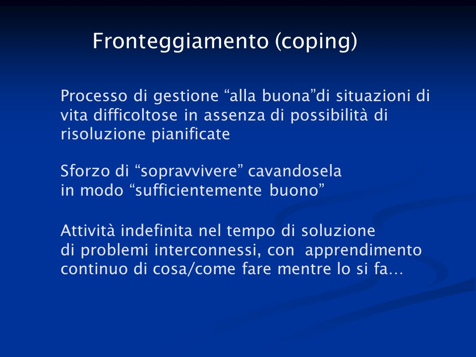 Fronteggiamento (coping)