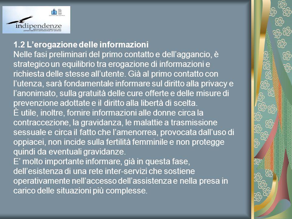1.2 L'erogazione delle informazioni