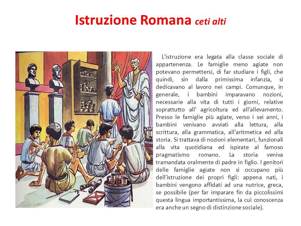 Istruzione Romana ceti alti