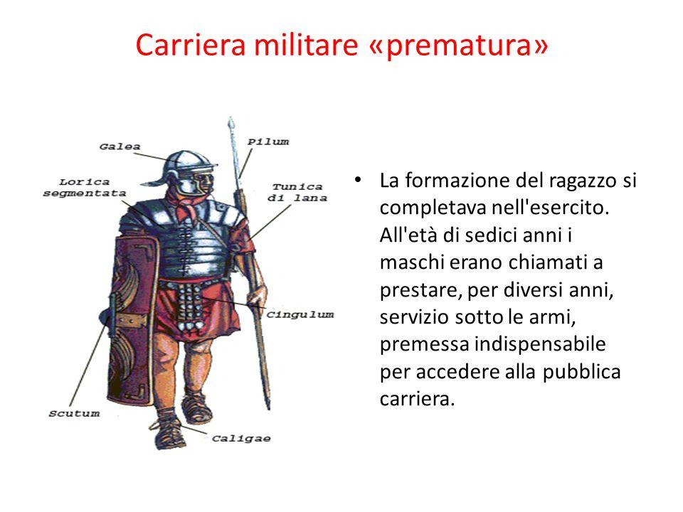 Carriera militare «prematura»
