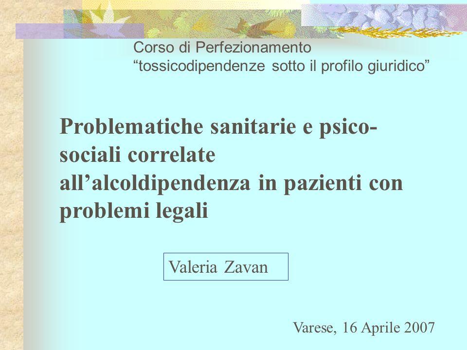 Corso di Perfezionamento tossicodipendenze sotto il profilo giuridico