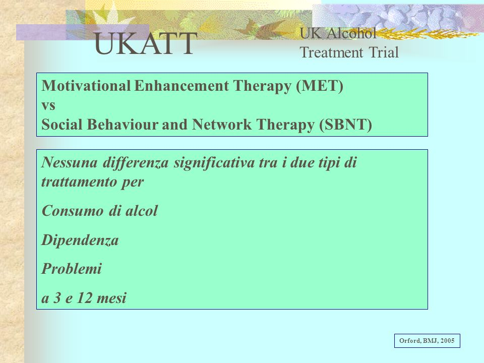 UKATT UK Alcohol Treatment Trial