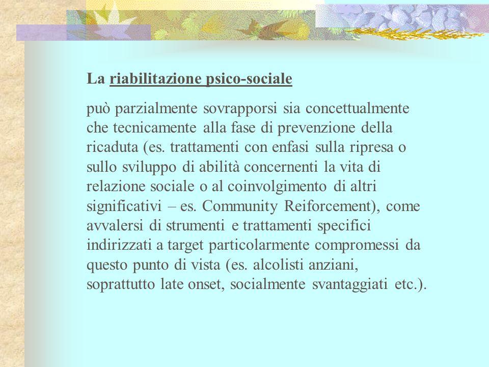 La riabilitazione psico-sociale
