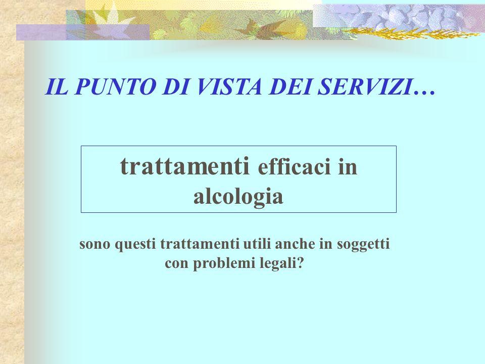 trattamenti efficaci in alcologia