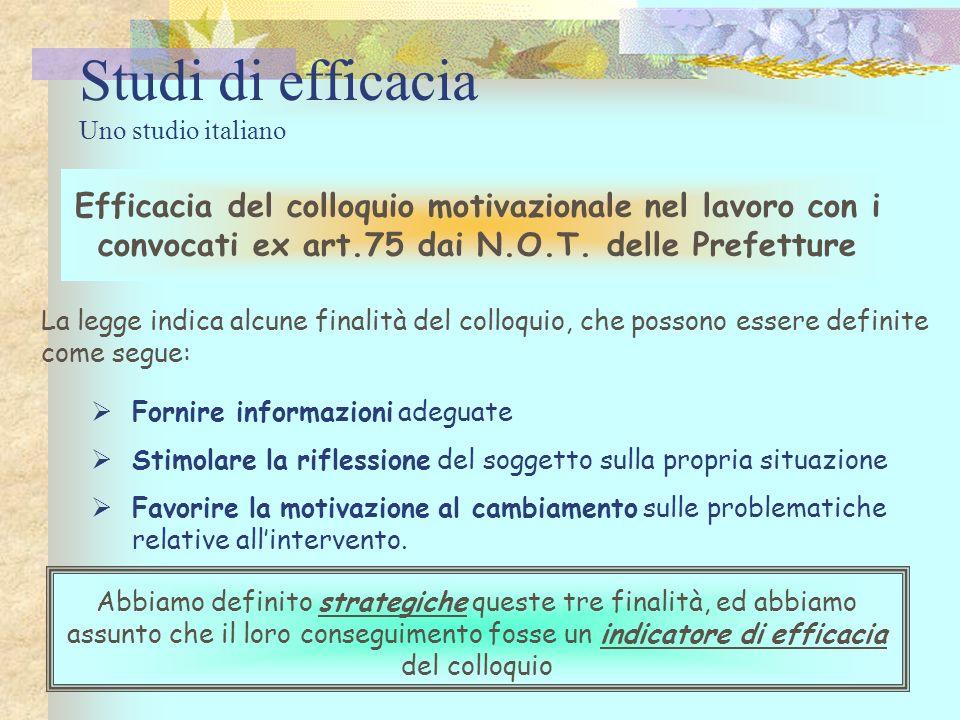 Studi di efficacia Uno studio italiano