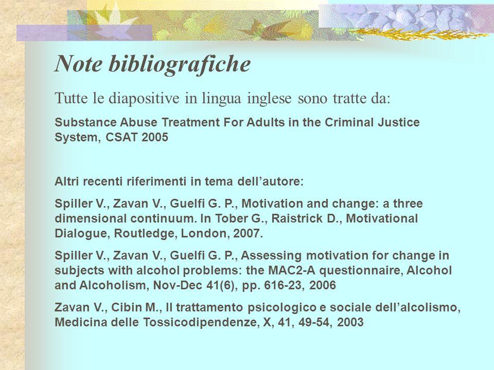 Note bibliografiche Tutte le diapositive in lingua inglese sono tratte da:
