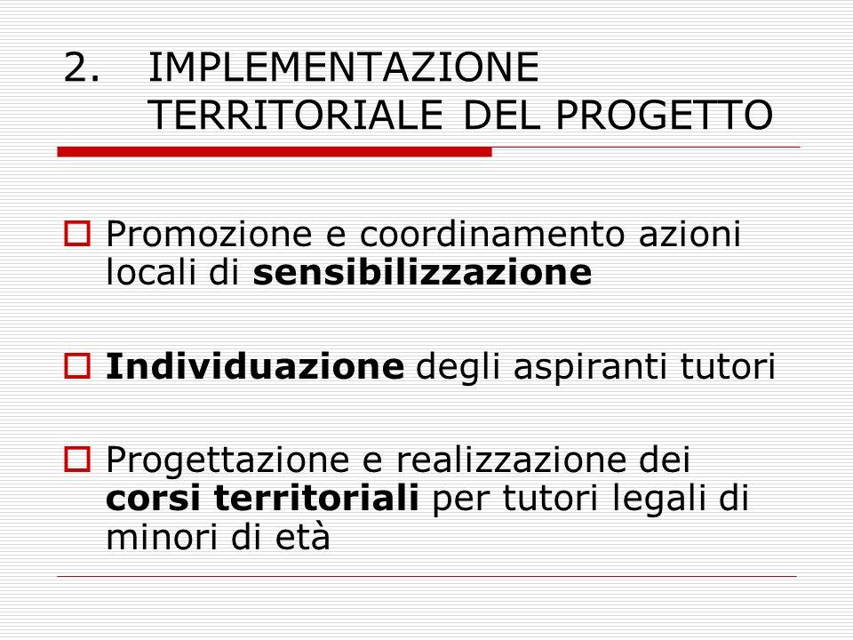 2. IMPLEMENTAZIONE TERRITORIALE DEL PROGETTO