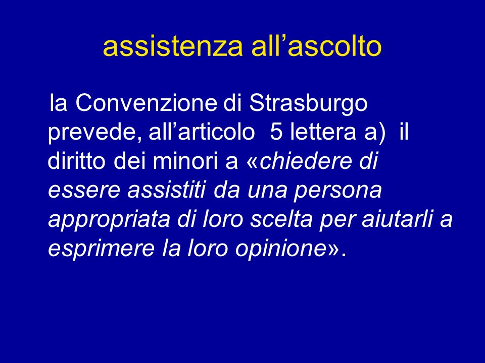 assistenza all'ascolto