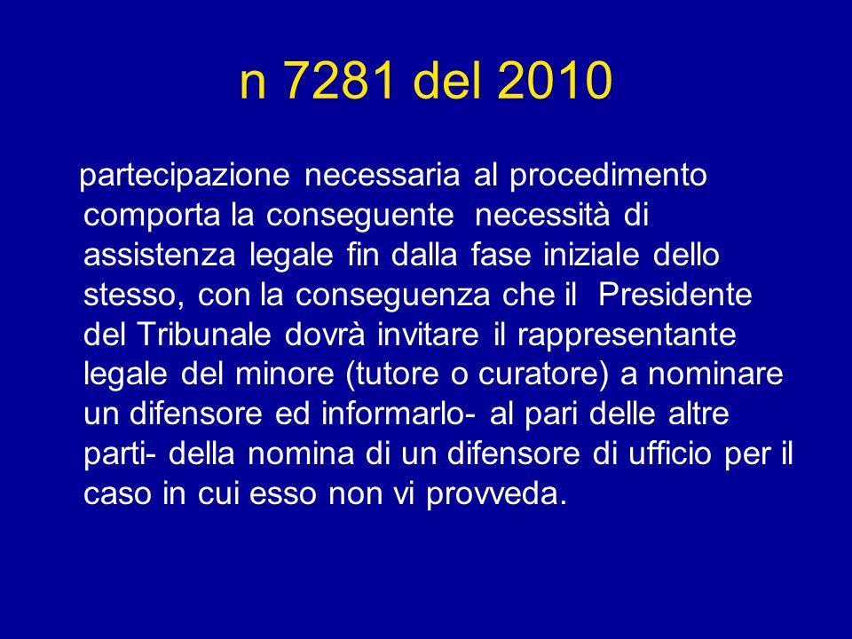n 7281 del 2010