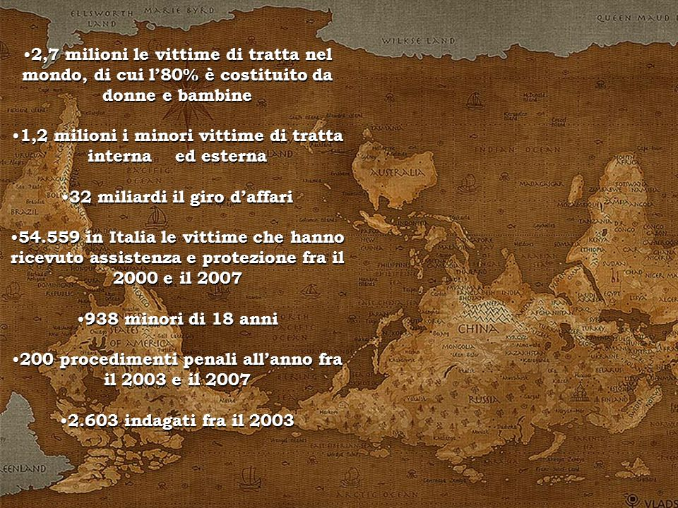 1,2 milioni i minori vittime di tratta interna ed esterna