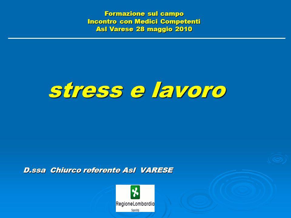 stress e lavoro D.ssa Chiurco referente Asl VARESE