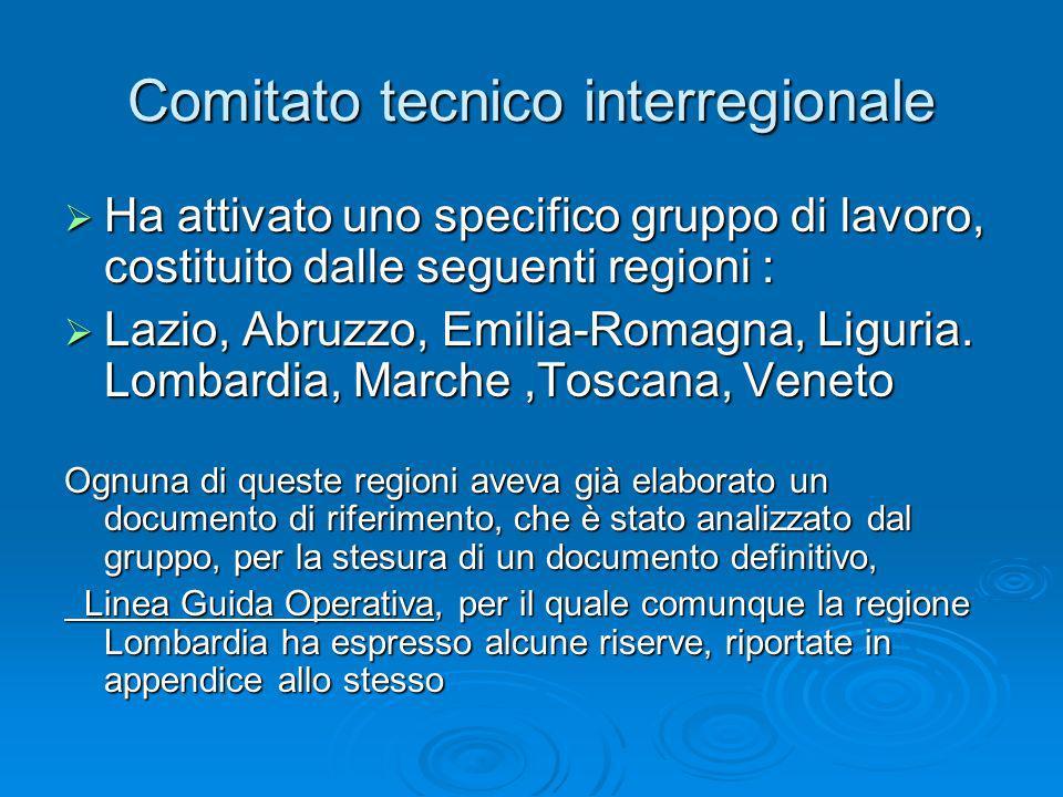 Comitato tecnico interregionale