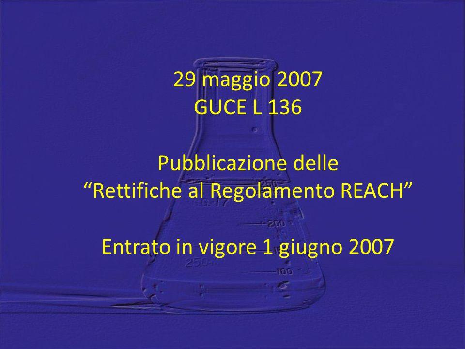 Entrato in vigore 1 giugno 2007