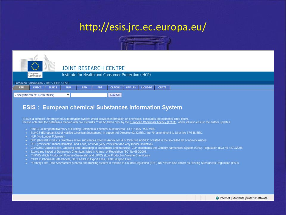 http://esis.jrc.ec.europa.eu/