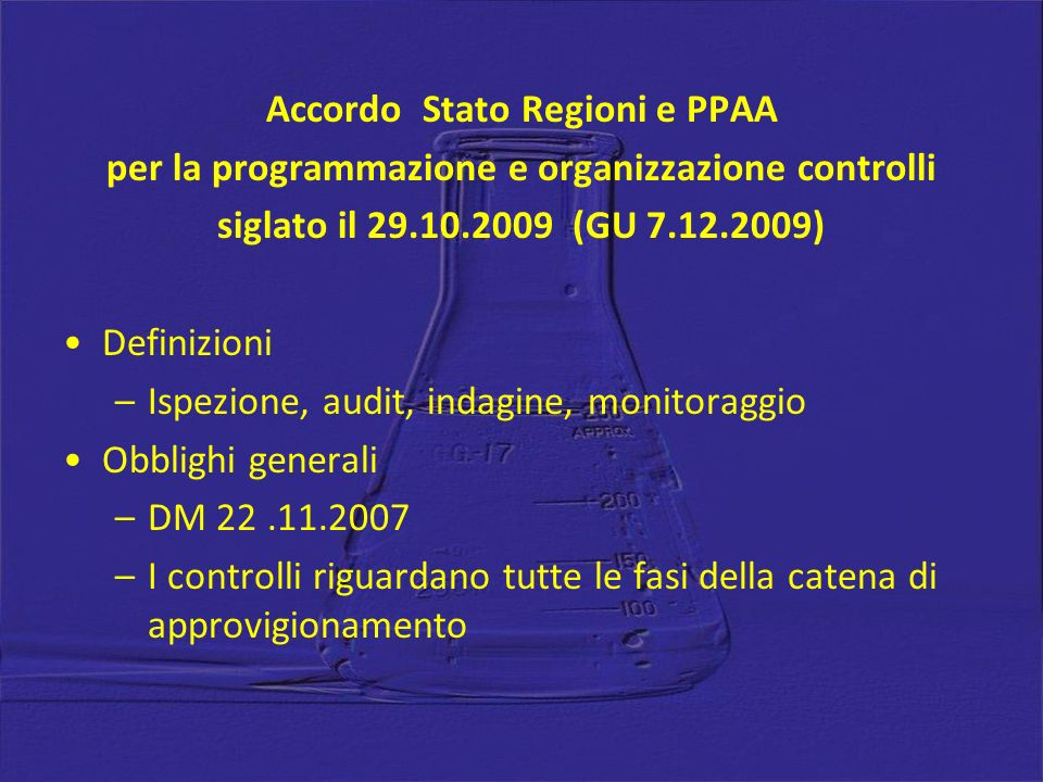 Accordo Stato Regioni e PPAA