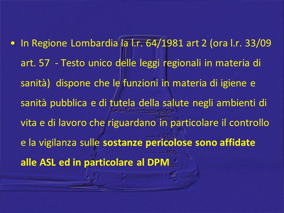 In Regione Lombardia la l. r. 64/1981 art 2 (ora l. r. 33/09 art